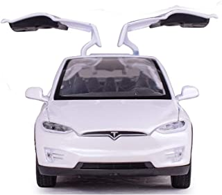 Toy Car Alloy Pull Back Cars with Sound and Light Kids Toys 1:32 Scale Model X 90 (White)