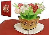 Lin–Pop Up Cartes Fleurs pop up Cartes d'anniversaire, Pop Up carte mère carte d'anniversaire carte de vœux Bon rétablissement Fleurs, sch-n719