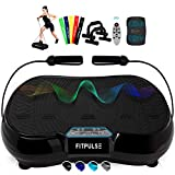 FITPULSE Classic Vibration Plate Exercise Machine - Vibration Platform Machine Vibrating Platform Body Vibration Machine Vibrating Machine Vibration Plates Vibrating Plate Black Exercise Plates by FITPULSE