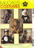 McCall's Sewing Pattern 8938 Girls Boys Toddlers Size 1 Skunk Lion Monkey...