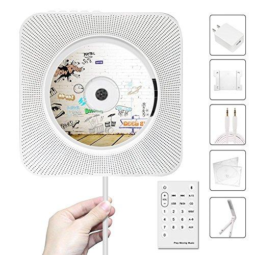 CDプレーヤー壁掛け式家庭用ステレオ音楽システム FMラジオブルートゥース、ハイビジョンスピーカー内蔵、USB読み取れ A