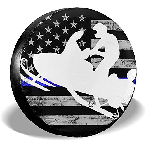 Casualty Amerikanische Flagge Platin Schneemobil Reifenabdeckung, Rad Reifenabdeckung Ersatzreifenabdeckung, Protector Radabdeckung Fit für Anhänger, SUV