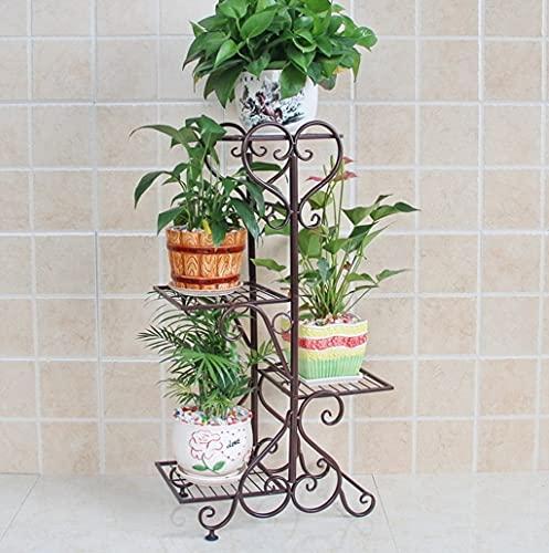 Bloemenrekken Europese Stijl Metalen Bloemenrekken Binnen En Buiten Woonkamer Balkon Meerdere Lagen Bloemenplank Montage Bloemenrekken Plantendisplay Stand (Maat: 82cm)