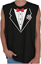 Vintage Formal Bachelor Party Print Tuxedo Sleeveless T Shirt