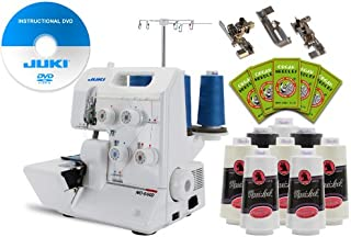Juki Garnet Line MO-644D 2-Needle, 2/3/4 Thread Serger PACKAGE w/ FREE 3-foot kit, 50 needles, 8 thread cones & Instructional DVD