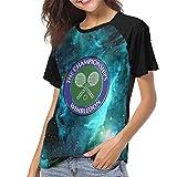 Actuallyhome T-Shirt de Baseball à Manches Courtes pour Femmes Logo des Championnats de Wimbledon T-Shirts décontractés imprimés pour Hommes