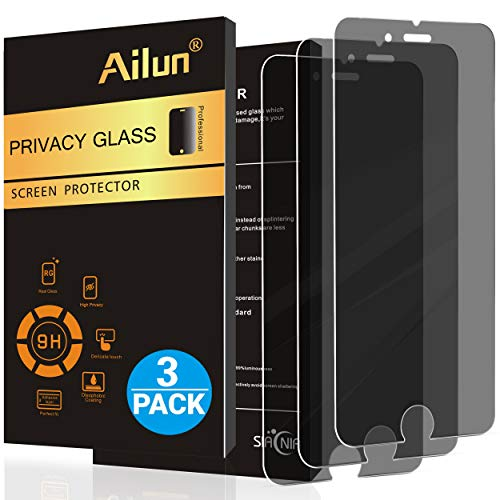 Ailun Screen Protector Compatible with iPhone 8 Plus 7 Plus Privacy Anti Glare 3Pack Tempered Glass...