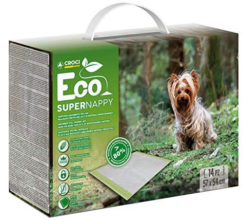 Croci Super Nappy Eco Tappetino Assorbente per Cani 57X54 Cm / 14 Tappetini - 600 g
