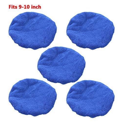YOOJIA Polierhauben 5Stück Auto Wachs Polieren Pad Abdeckung 5-6/7-8/9-10 Zoll Mikrofaser Polierpad Polierfell für Poliermaschine Royal Blau 7-8 Zoll