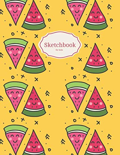Sketchbook for kids: 120 blank papers for drawing (8,5'x11')