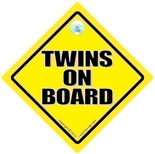 Twins On Board Car Sign, Baby Car Sign, Bumper Sticker, Decal, Unisex Maternity,...