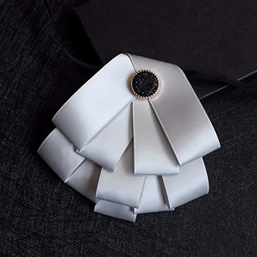 Heren Multi-layer Rode Necktie Pak Bow Tie voor Bruiloft Party Crystal Bowtie Pak Shirt Decoratie Accessoires Zilver