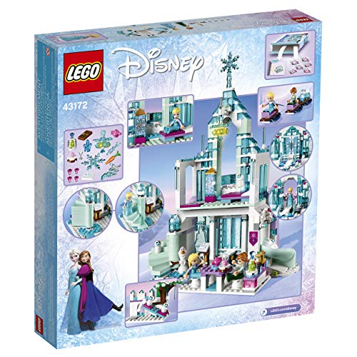 LEGO Disney Princess Elsa's Magical Ice Palace 43172 Toy Castle Building Kit with Mini Dolls, Castle Playset with Popular Frozen Characters including Elsa, Olaf, Anna and more (701 Pieces)