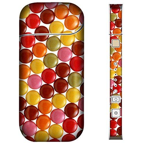 iQOS アイコス スキンシール 【 チョコ/お菓子/フルーツ チョコ-チョコマーブル 柄 】表面・裏面・側面セット 2016年発売バージョン対応