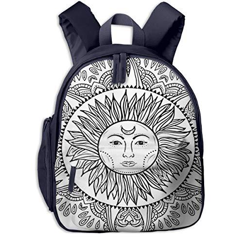 Kinderrucksack Kleinkind Jungen Mädchen Kindergartentasche Boho Sun Doodle Mandala Backpack Schultasche Rucksack
