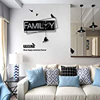 MZH 壁掛け時計-シンプルな北欧の鉄のクォーツホーム壁掛け時計、サイレント/正確な時間、64 * 57CM美しい