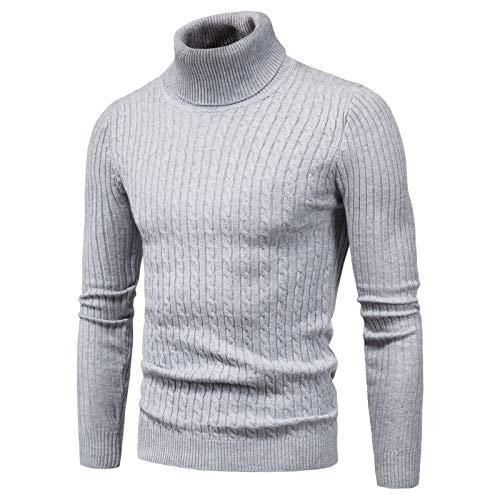 WLZQ Herbst Und Winter Herrenpullover Herrenpullover Pullover High Neck Slim Bottoming Shirt Pullover Herren Strick-t-Shirt