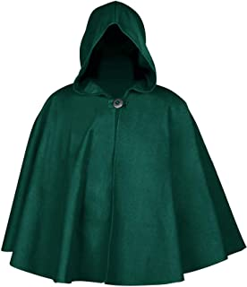 Enjoybuy Mens Halloween Medieval Hooded Cloak Costume One Button Poncho Cape Renaissance Cosplay Robe Irregular High Low Coat
