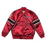 Mitchell & Ness NBA Chicago Bulls Heavyweight - Chaqueta de satén, color rojo, multicolor, large