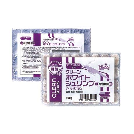 クリーンホワイトシュリンプ 100g 1枚 冷凍飼料 キョーリン エサ スリーステップ殺菌・ビタミン含有冷凍フード