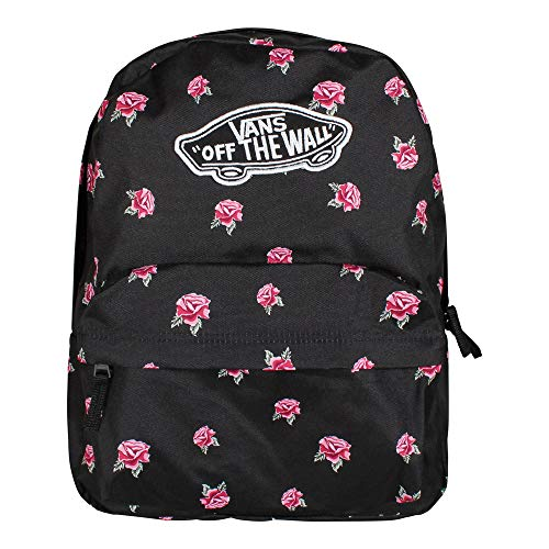 Vans Realm Backpack Mochila Tipo Casual, 42 cm, 22 Liters, Negro (Black Rose)