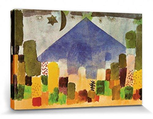 1art1 Paul Klee - Der Niesen, Ägyptische Nacht, 1915 Poster Leinwandbild Auf Keilrahmen 120 x 80 cm
