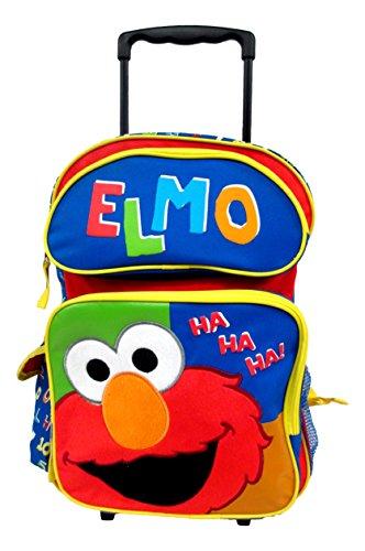 Elmo Sesame Street Large 16' Rolling Backpack Wheeled Book Bag