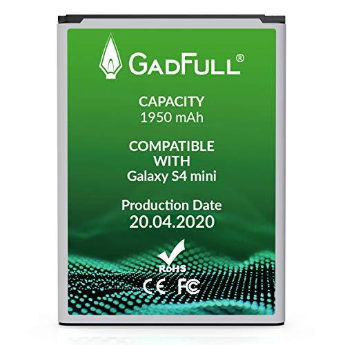 GadFull Akku für Samsung Galaxy S4 Mini | 2020 Baujahr | Entspricht Dem Original B500BE | Lithium-Ionen-Akku der Modelle Galaxy S4 Mini i9190 |Galaxy S4 Mini Dual SIM i9192 |Galaxy S4 Mini LTE i9195