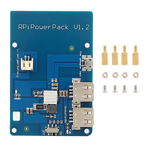 Placa de expansión de salida USB dual con función LED de gran capacidad, placa de expansión de potencia de litio, para Raspberry Pi3 Amplifica la señal de control