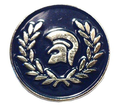 Laurel Trojan - Insignia de Metal esmaltada con diseño de Casco Mod, Color Azul