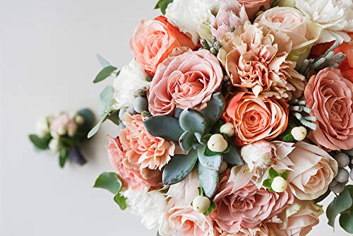 DesFoli Rosen Blumenstrauß Poster Kunstdruck Fotoposter P2250 Größe 30 cm x 20 cm