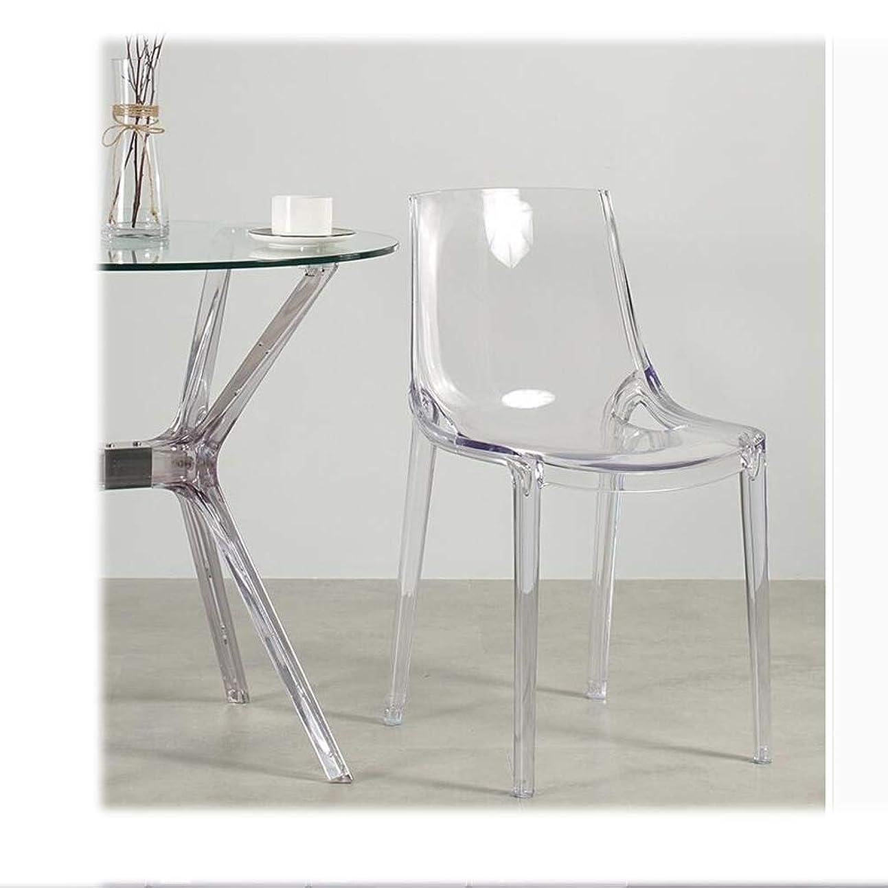 時代遅れ極小最悪LRZS-Furniture 北欧透明椅子アクリルプラスチック背もたれレジャーチェアシンプルモダンダイニングチェアクリスタルチェア悪魔ゴーストチェア (色 : クリア)