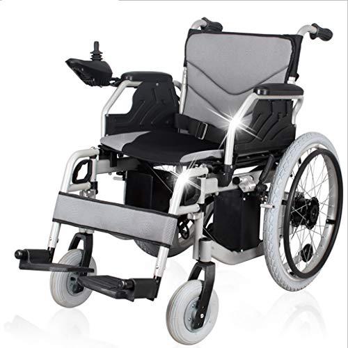 LXLCZ Silla de Ruedas eléctrica Plegable Función Dual portátil Andador Anciano discapacitado