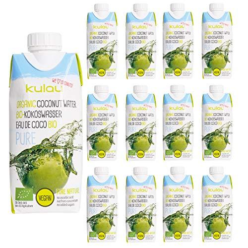 Kulau Bio Kokoswasser Pure 330 ml 100{3024bef4a71d12c498340ec8fac7fc093a4a9ad6b2b55b36f529c953fbbf06ee} pures Kokosnusswasser ohne Zucker und Zusatzstoffe, 12er Pack