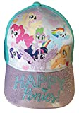 """Casquette à paillettes My Little Pony Kids """"Poneys heureux!"""" Applejack, Rainbow Dash, Pinkie Pie, Spike the Dragon, Casquette de baseball Rarity, Cappy, Casquette à visière pour fille (52, Turquoise)"""