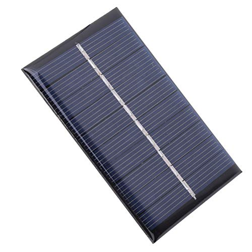Solar Solar Panel, 0.6W with Class A Polysilicon Solar Panel 6.5V 0-120MA for Small Power Appliances 80x55mm