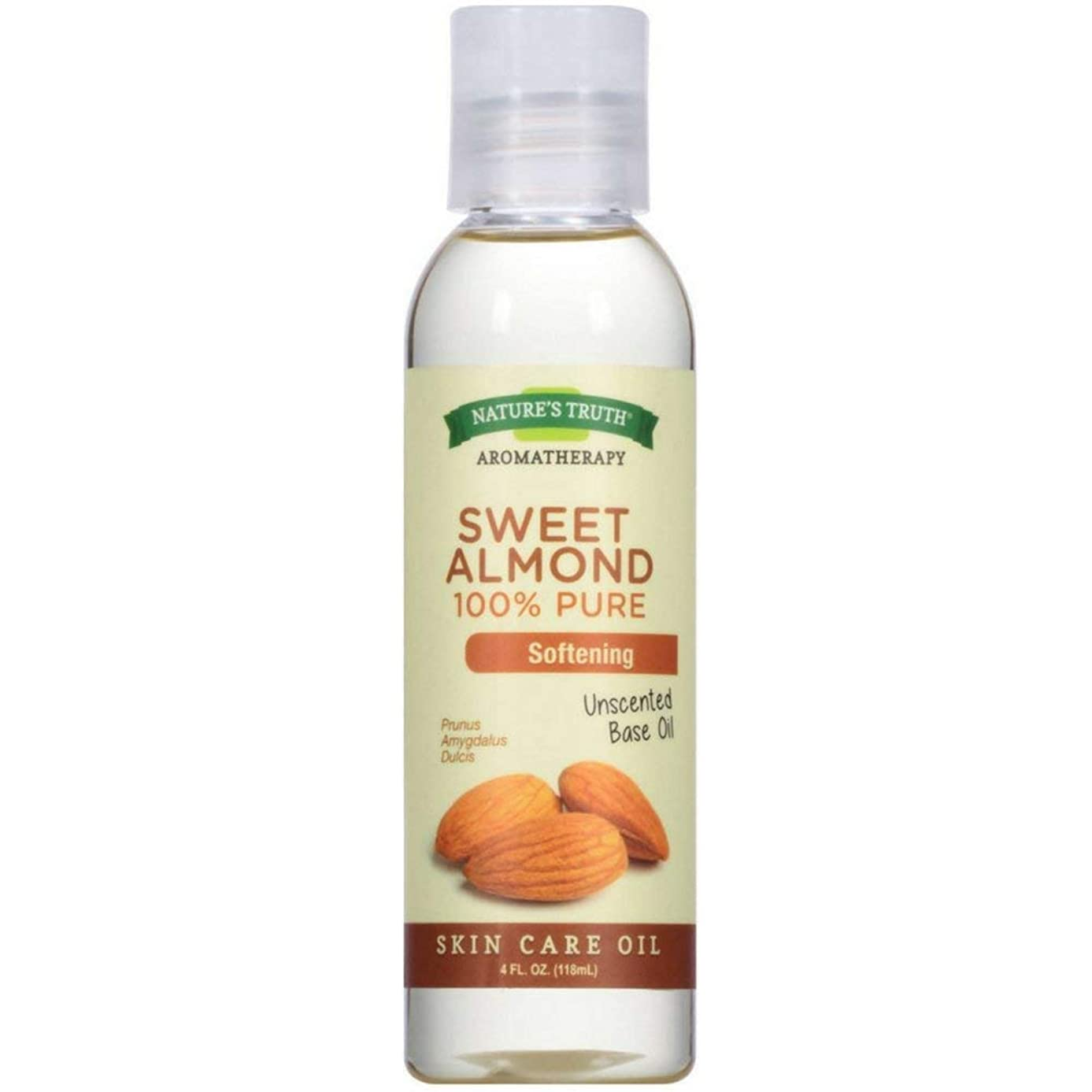 Nature's Truth 100% Pure Unscented Skin Care Base Oil, Sweet Almond 4 oz ( Pack of 4)