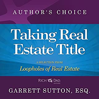 Taking Real Estate Title audiobook cover art