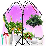 LED Grow Lights with Stand, 4 Heads Floor Plant Growing Lamps for Indoor Plants Growth. 84 LEDs Full Spectrum Floor Plant Lights Tripod Adjustable 23-67 inch, 3/6/12H Timer & 4 Modes, 360°Rotatable