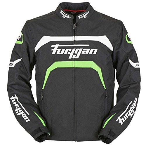 Furygan Arrow Herrenjacke, Schwarz, Neongrün, XL