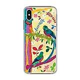 iPhone6S / iPhone6 ケース スマホケース かわいい 動物 カバー ハードケース iPhone 6s iphone 6 アイフォン 6s/6 アイフォンケース どうぶつ アニマル 人気 スマホカバー トリ ケツァールの森 カラフル COMO コモ デザイン pc0030