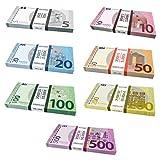 Caja para Scratch Cash Mini Bundle 175 billetes – 7 palos – 25 x Euros 5, 10, 20, 50, 100, 200 y...