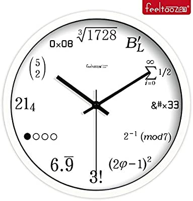 FEFWSFAFD Modern Clocks and Creative Ultra-Quiet Quartz Round The Living Room Wall Clock Large