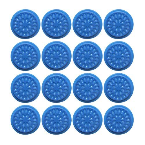 Beaupretty 20Pcs en Plastique Colle Palette Palette Pad en Forme de Fleur Extensions de Cils Cils Joint Adhésif Base de Support de Pigment pour Nail Art Tatouage Encre (Bleu)
