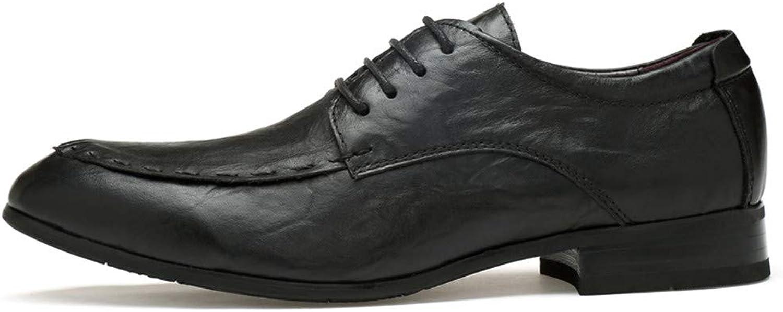 Manliga läderskor, herrläder, herrläder, herrläder, kohud, företagskläder, skor med spetsiga modeskor, herrskor  märken online billig försäljning