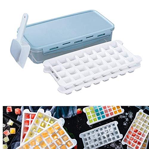 Zachte siliconen ijsbak ijskast, zachte bodem siliconen ijsbak met deksel Huishoudelijke koelkast met vriezer