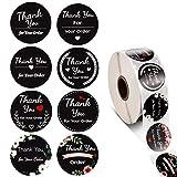 500 Stück Danke Aufkleber Thank You for Your Order Sticker Abdichtung Aufkleber Runde Etiketten...