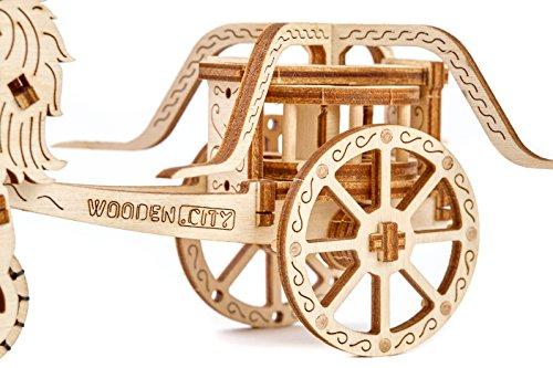 CHARIOT DA VINCI - 3D Holzbausatz - Pferde mit Wagen von Wooden.City