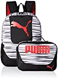 PUMA Boys' Little Backpacks and Lunch Boxes, Black/Red Kit, Youth