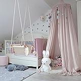 hongfei Ropa de cama de bebé Cúpula Redonda Canopy Kids Play Tienda Colgando...